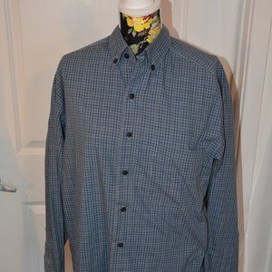 Classic navy squared pattern squared shirt